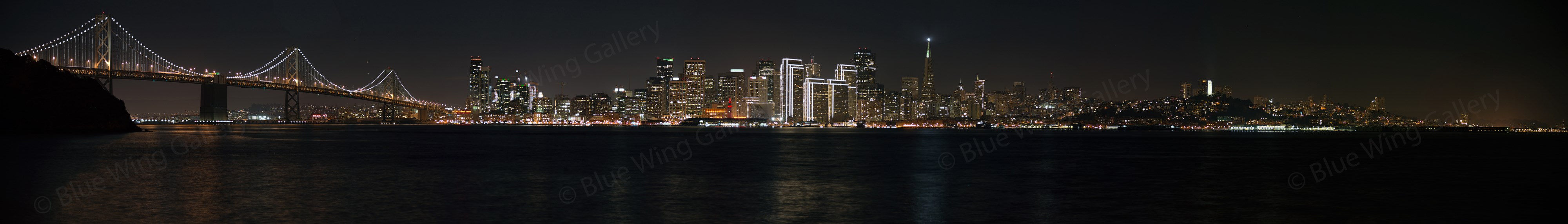 San Francisco City Lights Bay Bridge