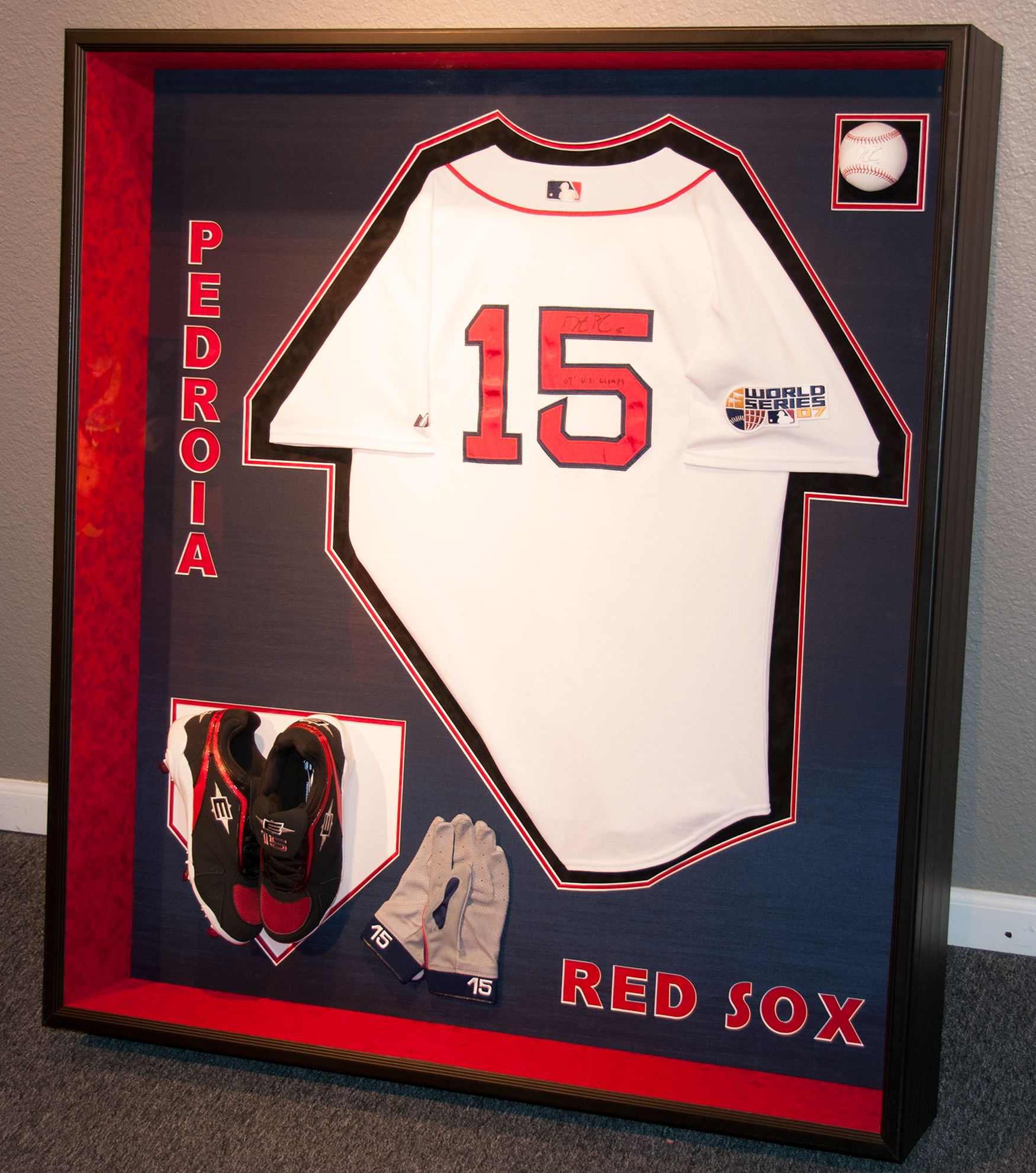 Jersey Framing Examples – Blue Wing Gallery and Framing