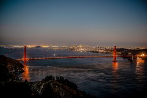 Golden Gate and San Francisco and Bay Bridge City View